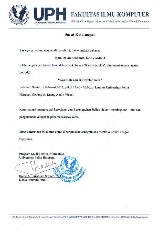 Divine Kids Universitas Pelita Harapan Dosen Tamu Capicta Selecta